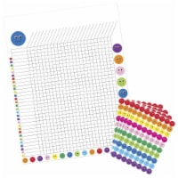 Hygloss Products 1559556 17 x 22 in. Incentive Poster with 9600 Smiley Stickers, Assorted Col