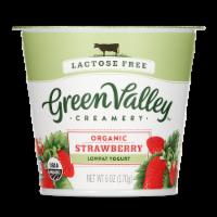 Green Valley Lactose Free Organic Strawberry Lowfat Yogurt