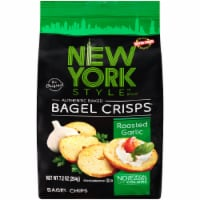 New York Style Roasted Garlic Bagel Crisps