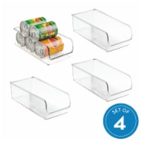 iDesign Linus Stackable Organizer Bins - Clear