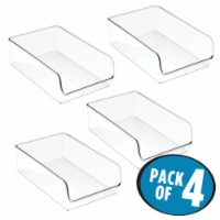 iDesign Linus Fridge and Freezer Storage Bins - Clear