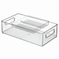 Interdesign Clear Refrigerator Tray & Bin Set  - 2 Piece