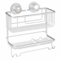 iDesign Metro Aluminum Turn-N-Lock Combo Basket - Silver