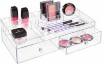 InterDesign Drawers 2-Drawer Cosmetic Organizer - Clear