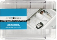 InterDesign Clarity Expandable Drawer Organizer - Clear