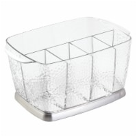 iDesign Rain Silverware Caddy - Clear
