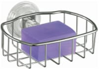 iDesign Reo Suction Soapdish - Stainless Steel