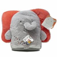 Sleepy Stuffs Elephant 2 In 1 Convertible Plush Blanket - 1 Unit