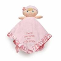 Baby Doll Plush Stuffed Animal Snuggler Blanket - Thank Goodness for Little Girls - Pink - 1