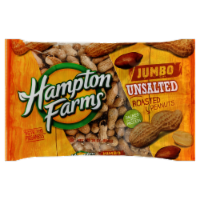 Hampton Farms Peanuts Jumbo Unsalted Roasted Peanuts - 24 oz