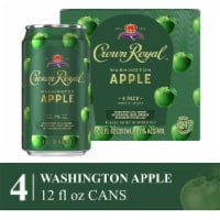 Crown Royal Washington Apple & Whisky Cocktail - 4 cans / 12 fl oz