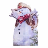 """Little Cowboy Snowman (Gelsinger) - OUTDOOR Yard Standee 65"""" x 45"""" - 1"""