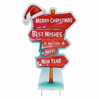 Advanced Graphics 2572 60 x 45 in. Holiday Directional Sign Outdoor Yard Standee - 1