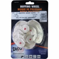 Dico  Cotton  Midget  Round  Buffing Wheel Set  40000 rpm 12 pc. - Case Of: 1; - Count of: 1