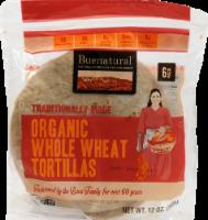 Buenatural Organic Whole Wheat Tortillas - 6 ct / 12 oz