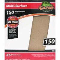 Gator Multi-Surface 9 In. x 11 In. 150 Grit Fine Sandpaper (25-Pack) 4207 - 1