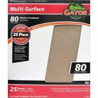 Gator Multi-Surface 9 In. x 11 In. 80 Grit Medium Sandpaper (25-Pack) 4210 - 1