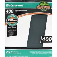 Gator Waterproof 9 In. x 11 In. 400 Grit Super Fine Sandpaper (25-Pack) 4239