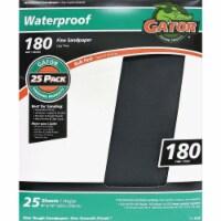 Gator Waterproof 9 In. x 11 In. 180 Grit Fine Sandpaper (25-Pack) 4242 - 1
