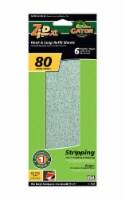 Gator Zip XL 9-1/2 in. L x 3-1/2 in. W 80 Grit Coarse Aluminum Oxide Sanding Sheet 6 pk - - Case of: 5