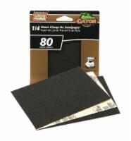 Gator PowerPlus 5-1/2 in. L x 4-1/2 in. W 80 Grit Medium Zirconium Oxide 1/4 Sheet Sandpaper - Count of: 1