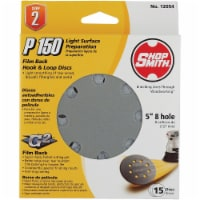 Shopsmith  5 in. Aluminum Oxide  Hook and Loop  Sanding Disc  150 Grit Fine  15 pk - Case Of: - Count of: 1