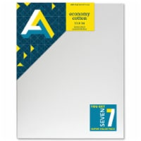 Art Alternatives Economy Cotton Stretched Canvas Super Value Pack - 7 Pack