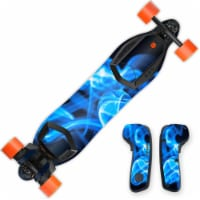 MightySkins BOOBORD-Blue Flames Skin for 2nd Generation Boosted Board, Blue Flames