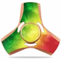 MightySkins FYAPS-Rasta Rainbow Vinyl Decal Skin for Apsung Fidget Tri-Spinner - Rasta Rainbo - 1