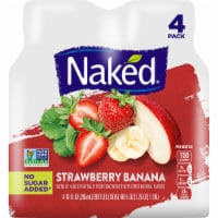 Naked Fruit Smoothie Strawberry Banana Juice Blend