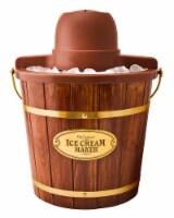 Nostalgia 4 Quart Wood Bucket Ice Cream Maker