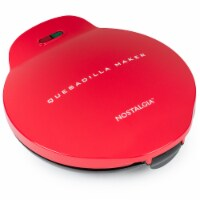 Nostalgia Deluxe 6-Wedge Electric Quesadilla Maker - Red