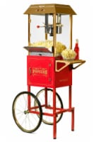 Nostalgia Red Vintage Commercial Popcorn Cart