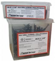 Sim Supply Self Drill Screw,#6,1 1/8 In,PK1200 HAWA P50020-PK