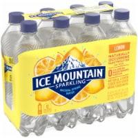 Ice Mountain Lively Lemon Sparkling Water 8 Count - 8 bottles / 16.9 fl oz