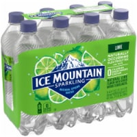 Ice Mountain Zesty Lime Sparkling Water 8 Count - 8 bottles / 16.9 fl oz