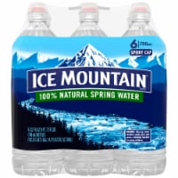 Ice Mountain Natural Spring Water 6 Count