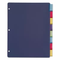 Cardinal Poly Index Dividers, 8-Tab, 11 X 8.5, Assorted, 4 Sets 84019 - 1