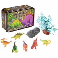 15 Pc Dinosaurs in a Tin Travel Toy Set - 1