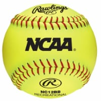 Rawlings 8047289 12 in. NCAA Yellow Synthetic Leather Softballs