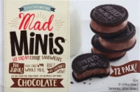 Mad Minis Chocolate Ice Cream Cookie Sandwiches - 12 ct / 1 fl oz