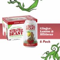 Strainge Beast Hard Kombucha - Ginger, Lemon & Hibiscus-12 oz