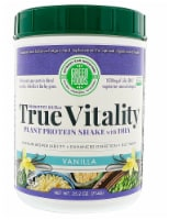 Green Foods  True Vitality Plant Protein Shake with DHA   Vanilla