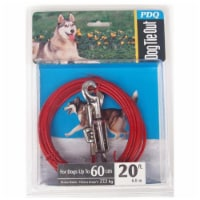 Boss Pet PDQ Red Vinyl Coated Cable Dog Tie Out Large - Case Of: 1; - Count of: 1