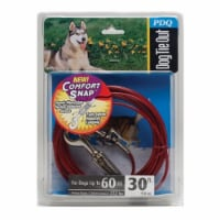Boss Pet PDQ Red Tie-Out with Spring Vinyl Coated Cable Dog Tie Out Large - Case Of: 1; - Count of: 1
