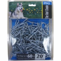 PDQ Silver Steel Dog Tie Out Chain Large - Case Of: 1; - Count of: 1