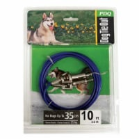 Boss Pet PDQ Blue / Silver Tie-Out Vinyl Coated Cable Dog Tie Out Medium - Case Of: 1; - Count of: 1