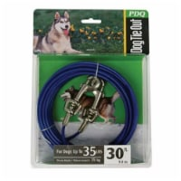 Boss Pet PDQ Blue / Silver Vinyl Coated Cable Dog Tie Out Medium - Case Of: 1; - Count of: 1