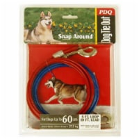 Boss Pet PDQ Red Tie-Out Vinyl Coated Cable Dog Tie Out Large - Case Of: 1; Each Pack Qty: 1; - Count of: 1
