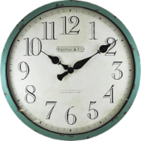 FirsTime® Bellamy Wall Clock - Aged Teal